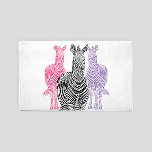 Trio Zebra Print 3'x5' Area Rug