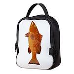 Red Grouper f Neoprene Lunch Bag