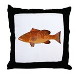 Red Grouper f Throw Pillow