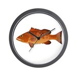 Red Grouper f Wall Clock