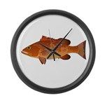 Red Grouper f Large Wall Clock
