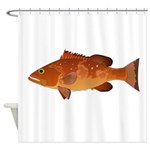 Red Grouper f Shower Curtain