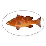 Red Grouper f Sticker