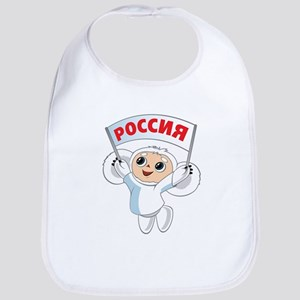 Winter Cheburashka Bib