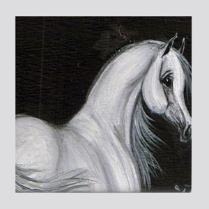 Grey Arabian Horse Tile Coaster