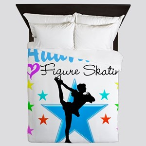 ICE SKATING STAR Queen Duvet