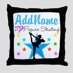 ICE SKATING STAR Throw Pillow