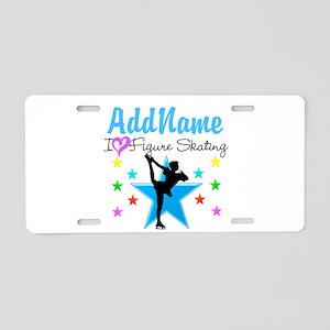 ICE SKATING STAR Aluminum License Plate