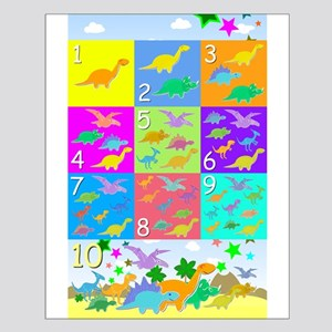 Learn Counting 1 to 10 Cute Dinosaurs Posters