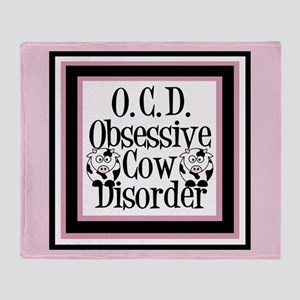 Obessive Cow Disorder Throw Blanket