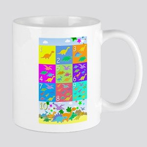 Learn Counting 1 to 10 Cute Dinosaurs Mug