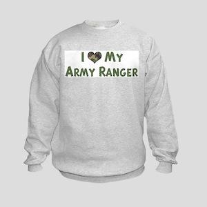 Army Ranger: Love - camo Kids Sweatshirt