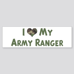 Army Ranger: Love - camo Bumper Sticker