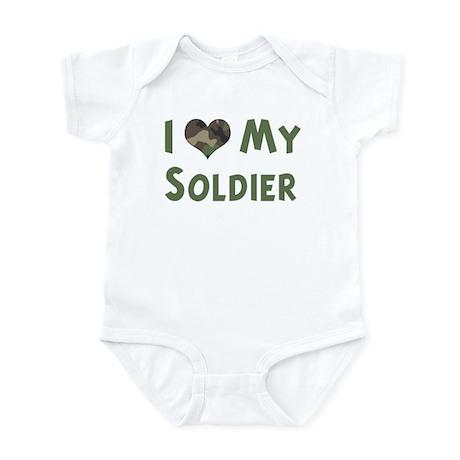 Soldier: Love - camo Infant Bodysuit
