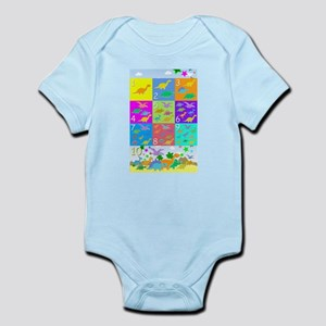 Learn Counting 1 to 10 Cute Dinosaurs Body Suit