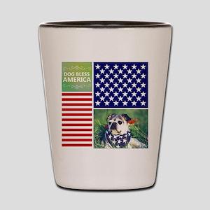 Dog Bless America Shot Glass