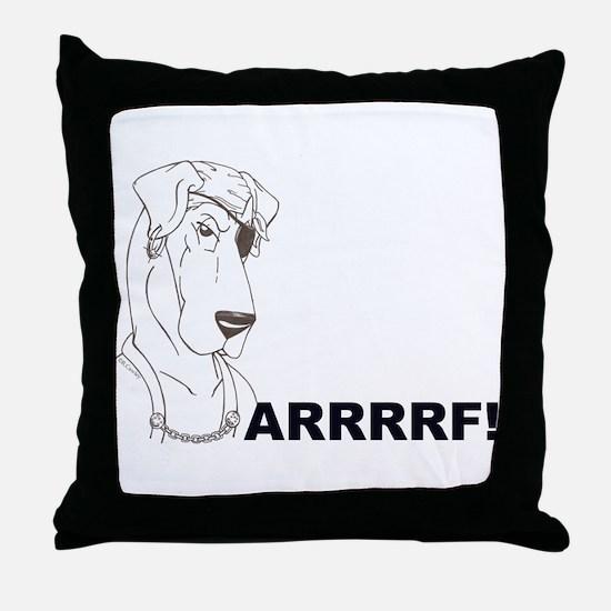 Arrrrrrrf Throw Pillow