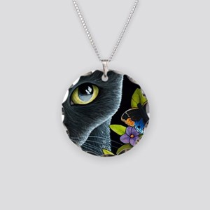 Cat 557 Necklace Circle Charm