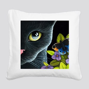 Cat 557 Square Canvas Pillow