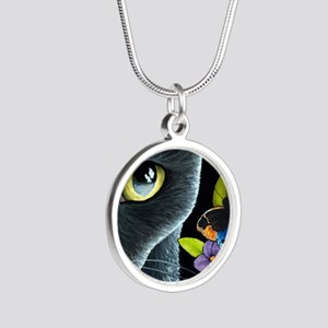Cat 557 Silver Round Necklace