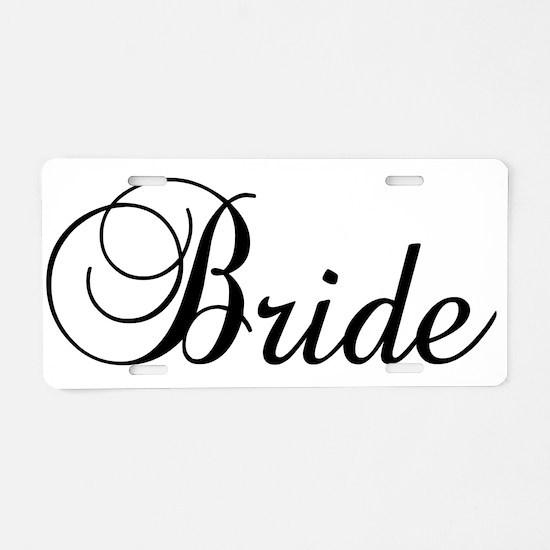 Bride Dark Aluminum License Plate