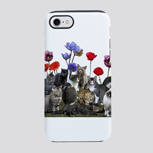 Cats and flowers iPhone 7 Tough Case