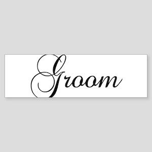 Groom Dark Bumper Sticker
