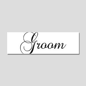 Groom Dark Car Magnet 10 x 3