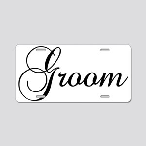 Groom Dark Aluminum License Plate