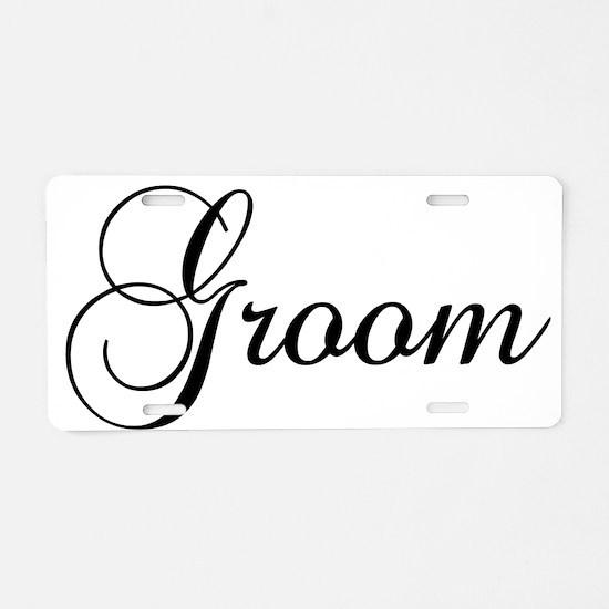 Groom Dark Aluminum License Plate