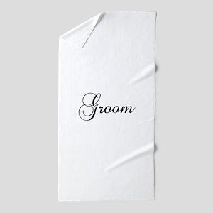Groom Dark Beach Towel