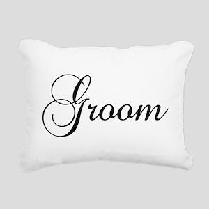 Groom Dark Rectangular Canvas Pillow