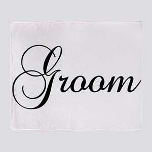 Groom Dark Throw Blanket