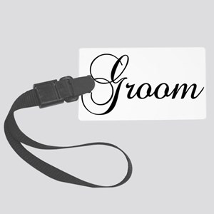 Groom Dark Luggage Tag
