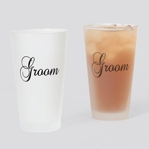 Groom Dark Drinking Glass