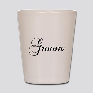 Groom Dark Shot Glass