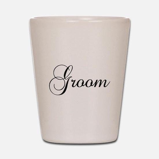 Groom Dark Shot Glass