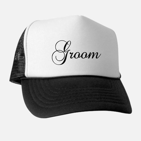 Groom Dark Trucker Hat