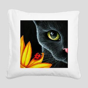 Cat 510 Square Canvas Pillow
