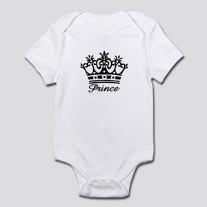Prince Black Crown Infant Bodysuit