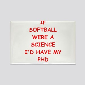 softball Rectangle Magnet