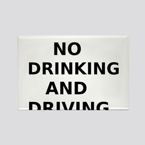 No Drinking and Driving Rectangle Magnet