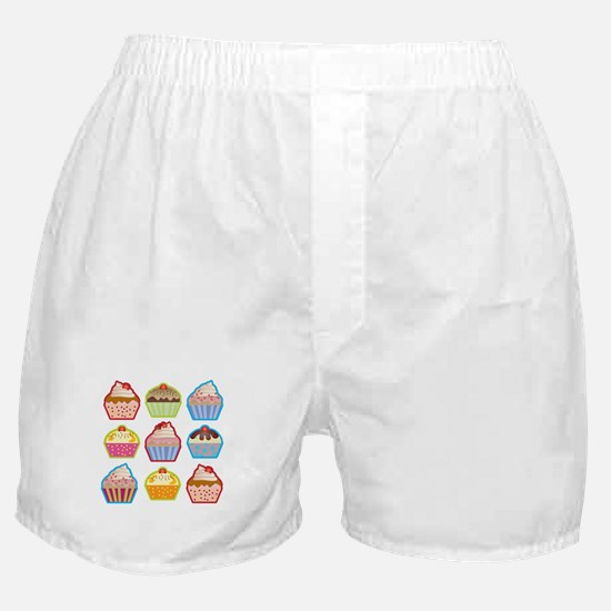 Cute Cupcakes Boxer Shorts