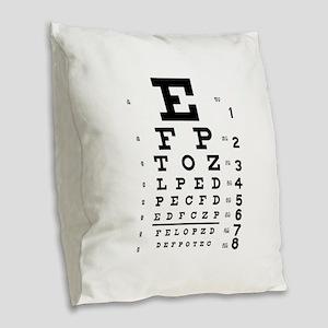 eyechart_full_page Burlap Throw Pillow