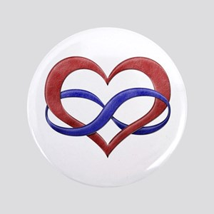 "Polyamory Heart 3.5"" Button"