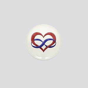 Polyamory Heart Mini Button