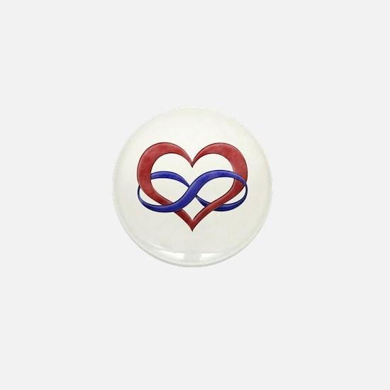 Polyamory Heart Mini Button