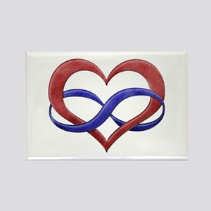 Polyamory Heart Rectangle Magnet