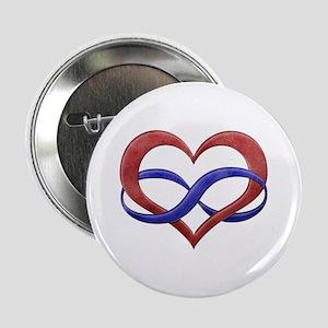 "Polyamory Heart 2.25"" Button"