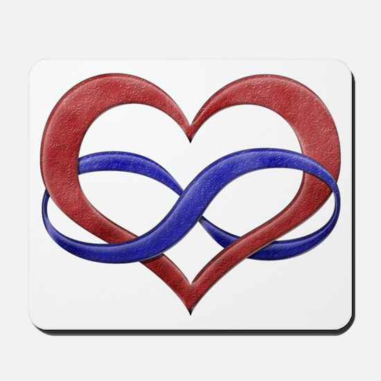 Polyamory Heart Mousepad